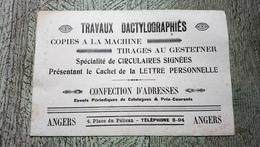 Buvard Travaux Dactylographiés Angers Place Du Pélican - Buvards, Protège-cahiers Illustrés
