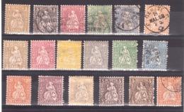 Suisse - Lot Helvetia Assise - 1862/81 - Neufs * Et Oblitérés - Collezioni (senza Album)