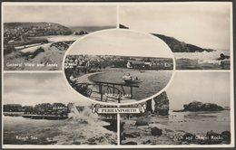 Multiview, Perranporth, Cornwall, 1958 - Salmon RP Postcard - England
