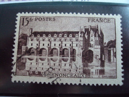 """1900-1945-timbre Oblitéré N° 610  Brin Lilas-    """"  Chenonceaux  15 F""""     Cote  0.65      Net 0.20 - France"""