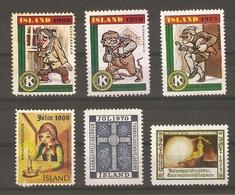 Islande - Petit Lot De 6 Vignettes - Jol - Noël - Anti Tuberculeux - Kiwanis - Timbres