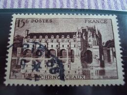 """1900-1945-timbre Oblitéré N° 610 A - Brun Noir  """"  Chenanceaux 15 F   """"     Cote 2.30       Net 0.75 - France"""