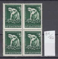 47K84 / 1170 Bulgaria 1959 Michel Nr. 1146 - Baumwollpflückerin Cotton Picker Le Coton  Baumwollfaser , Bulgarie - Agriculture