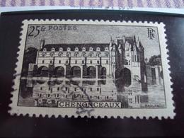 """1900-1945-timbre Oblitéré N° 611- Noir   """"chenonceaux 25 Frs """"     Cote    0.80    Net 0.25 - France"""