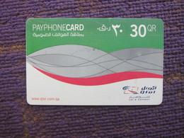 Qtel Payphone Card, Used With Scratch - Qatar