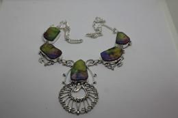 Collana Druzy Lucidata Colore Giallo  -  Misura 54 Cm - Necklaces/Chains