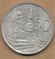 50 Francs Argent  Exposition Universelle 1958 FR - 1951-1993: Baudouin I