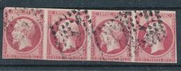 N° 17 BANDE DE 4 TIMBRES - 1853-1860 Napoléon III