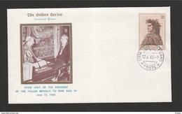 VATICANO - 12 6 1965  SS PAOLO VI INCONTRA IL PRESIDENTE DELLA REP. ITALIANA G. SARAGAT - Papi