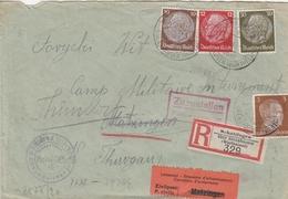 Allemagne Lettre Recommandée Schattingen Censurée Pour Le Camp Matzingen En Suisse 1942 - Deutschland