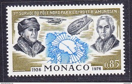 Monaco 1982 Byrd & Amundsen 1v ** Mnh (41439E) - Timbres