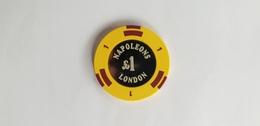 Napoleons Casino London UK 1 GBP Casino Chip Jeton - Casino