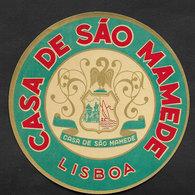 Portugal Etiquette Valise Hotel Casa De São Mamede Lisbon Lisboa Luggage Label - Etiquettes D'hotels