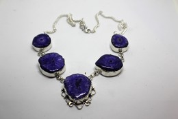 Quarzo Solare Colore Viola -  Misura 49 Cm - Necklaces/Chains