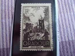 """1900-1945-timbre Oblitéré N° 742   """"   Oradour   """"     Cote     0.30   Net 0.10 - Oblitérés"""