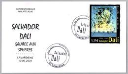 SALVADOR DALI - GALATEE AUX SPHERES. SPD/FDC Lavardens, Belgica, 2004 - Arte