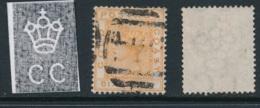 GOLD COAST, 1876 6d Orange, Very Small Thin , SG8, Cat £27 - Goudkust (...-1957)