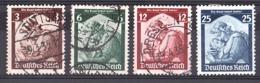 Allemagne - 1935 - N° 524 à 527 Oblitérés (sauf 527 Neuf *) - Retour De La Sarre - Allemagne