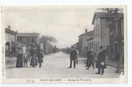 Cpa - 11 -    Prat-de-cest    Animation  Avenue De Perpignan - Frankreich