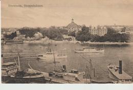 C.P.A. - STOCKHOLM - SKEPPSHOLMEN - 2161 - SVENSKA - BATEAUX - GEFLE -SODERHAM - - Suède