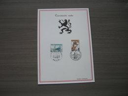 "BELG.1970 1537 & 1538  Filatalia Card FDC ""Virton Et Zelzate"" - FDC"