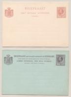 Suriname - 1889 - 2,5+2,5 En 5+5 Cent Willem III, Briefkaart G8 En G10 - Ongebruikt - Suriname ... - 1975