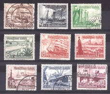 Allemagne - 1937 - N° 594 à 602 - Neufs * Et Oblitérés - Secours D'hiver - Bateaux - Gebruikt