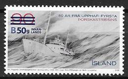Islande 2012, N°1290 Neuf Guerre De La Morue Surchargé - Neufs