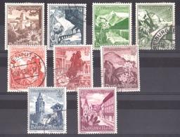 Allemagne - 1938 - N° 616 à 624 - Neufs * Et Oblitérés - Secours D'hiver - Paysages Et Flore D'Autriche - Allemagne