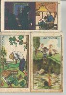 3 FIGURINE CARTONATE BILANCIA PESAPERSONE GRASSO GENOVA-SERIE CUORE - Pubblicitari