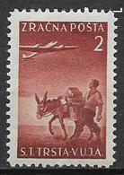 TRIESTE ZONA B  1949 POSTA AEREA SOGGETTI VARI SASS.  4 MNH XF - 7. Trieste