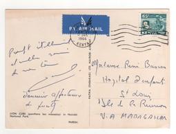 Timbre , Stamp Sur Cp , Carte , Postcard De 1966 - Kenya (1963-...)