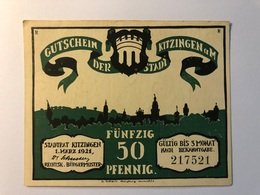 Allemagne Notgeld Kitzingen 50 Pfennig - [ 3] 1918-1933 : République De Weimar