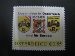 Österreich- Pers.BM 8001614** Unser Heer In Österreich Und Für Europa - Private Stamps