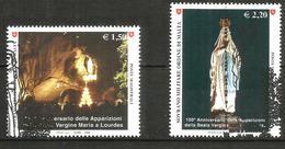 2008 ORDINE DI MALTA SMOM Lourdes   Serie Completa Usata FDC Bellissima - Malte (Ordre De)