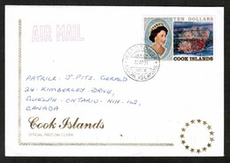 COOK ISLANDS   SCOTT # 1049 On FIRST DAY COVER (FDC) (22/AP/91)) (OS-439) - Cook Islands