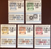 Uruguay 1966 Surcharged Stamp Centenary MNH - Uruguay