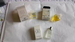 Miniature De Parfum Homme Et Femme  Lot De 3 Avec Boite N° 31 - Modern Miniatures (from 1961)