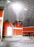 1 AK Antarctica Antarktis * Innenansicht Der Amundsen-Scott-Südpolstation Der USA - Forschungsstation Von 1975 Bis 2009 - Cartes Postales