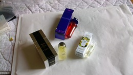 Miniature De Parfum Homme Et Femme  Lot De 3 Avec Boite N° 34 - Modern Miniatures (from 1961)