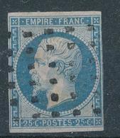 N°15 OBLITERATION GROS POINTS - 1853-1860 Napoléon III