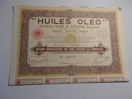 HUILES OLEO (sociétés OLEO & VITESSE Réunies) COLOMBES - Unclassified
