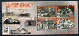 ISLE Of MAN 2004 - 60th Anniv. OPERATION OVERLORD 2WW / Churchill - Bloc 50 Mi 1122-1125 MNH ** Cv€6,50 N394 - Man (Insel)
