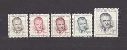 Czechoslovakia 1948 MH * Mi 552-555 Sc 363-366 Klement Gottwald.  (553a,b) - Tschechoslowakei/CSSR