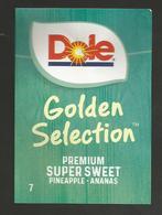 # PINEAPPLE DOLE GOLDEN SELECTION Size 7 Fruit Tag Balise Etiqueta Anhanger Ananas Pina Costa Rica - Fruit En Groenten