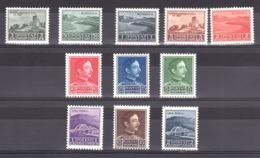 Albanie - 1930 - N° 221 à 231 - Neufs * - Paysages - Zog 1er - Albanie