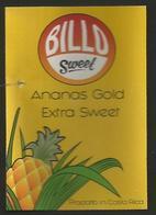 # PINEAPPLE BILLO GOLD EXTRA SWEET Fruit Tag Balise Etiqueta Anhanger Ananas Pina Costa Rica - Fruits & Vegetables