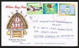 PAPUA NEW GUINEA   SCOTT # 944 & 953 On UPRATED POSTAL STATIONARY COVER To SCRANTON, PENN. USA (19/AUG/1999)) (OS-440) - Papua New Guinea