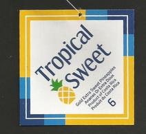 # PINEAPPLE TROPICAL SWEET Size 6 Fruit Tag Balise Etiqueta Anhanger Ananas Pina Costa Rica - Fruits & Vegetables