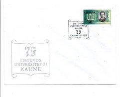 LITUANIE FDC 1997 75 ANS UNIVERSITE DE KAUNAS - Langues